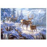 Пазлы Олени в зимних горах (1000 эл.) CQ93317